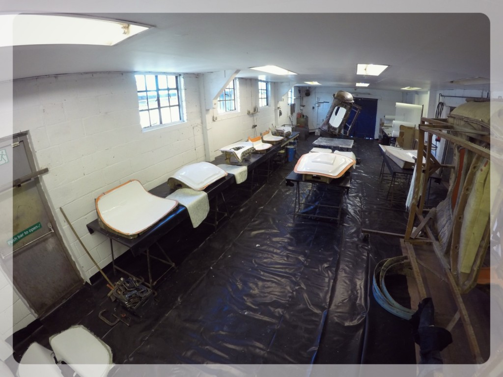 INSIDE THE LAMINATING SHOP, ALL BODYS AND BODY PANELS ARE MADE AT OUR FACTORY.